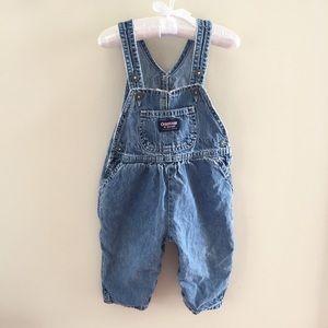 Vintage OshKosh Blue Jean Overalls 12 Months
